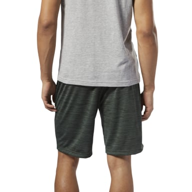 Men Training Green Workout Ready Knitted Shorts