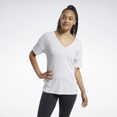 TS AC+COTTON TEE Blanco Mujer Fitness & Training