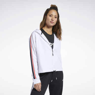 Sudadera Workout Ready Blanco Mujer Fitness & Training