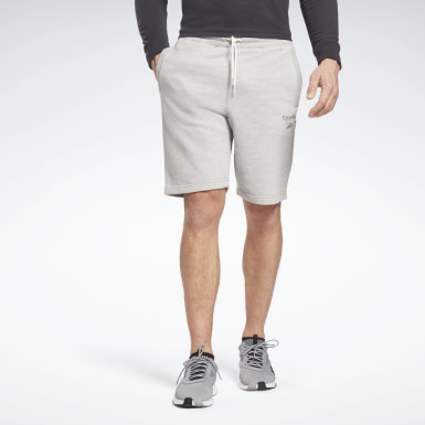 Men Training Grey Training Essentials Mélange Shorts