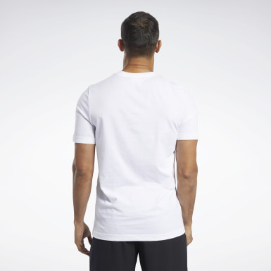 Men Fitness & Training White Graphic Series Crew Tee