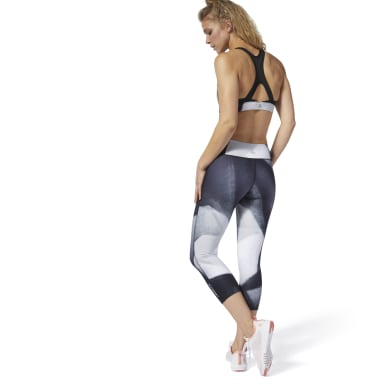 Frauen Studio LES MILLS® 3/4 Capri Tight Schwarz