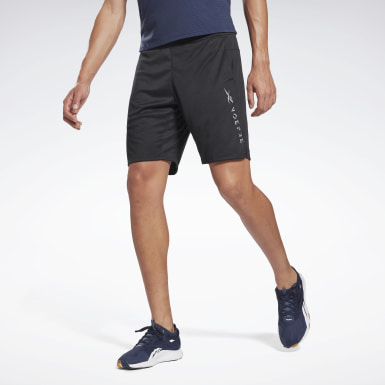Men Fitness & Training Black Knit Shorts