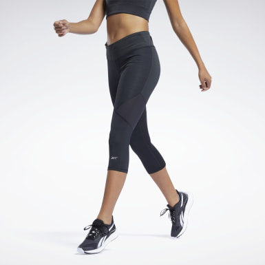 Women Running Black One Series Running ACTIVCHILL 3/4 Tights