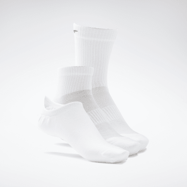 Calcetines Active Foundation - Pack de 3 Blanco Fitness & Training
