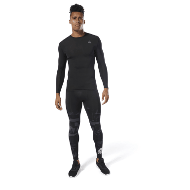 Men Training Black Training Compression Tights