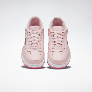 Kids Classics Pink Club C Shoes - Grade School