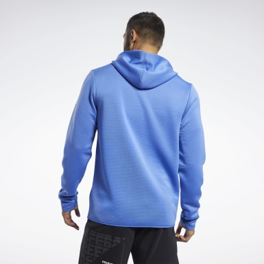 Men Fitness & Training Blue Speedwick Hoodie