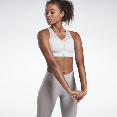 Women Pilates Grey Reebok PureMove+ Bra