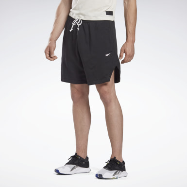 Men Studio Black LES MILLS® 7-Inch French Terry Shorts