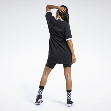 Frauen Classics Classics Tennis Dress Schwarz