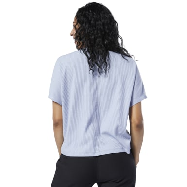 Camiseta Training Essentials Ribbed Roxo Mulher Yoga