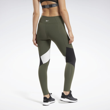Women Training Green Lux Colorblock 2 Tights
