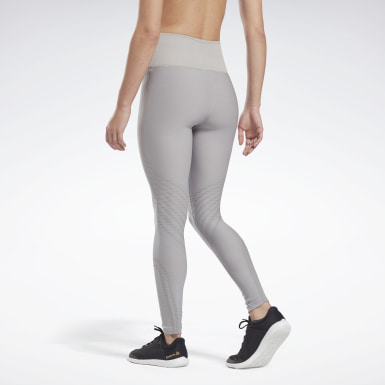 Women Yoga Grey Studio Seamless Tights