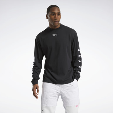 Men Fitness & Training Black MYT Long-Sleeve Top
