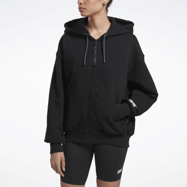 Women Fitness & Training Black VB Full Zip Hoodie