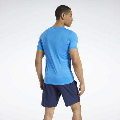 Men HIIT Blue Workout Ready ACTIVCHILL Tee