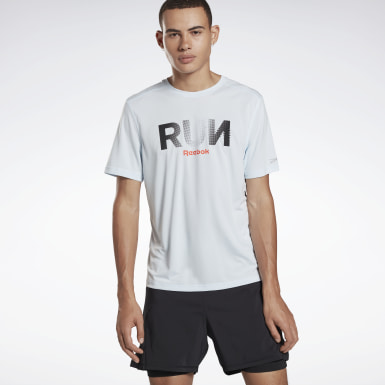 Men Running Blue Running Essentials Graphic Tee