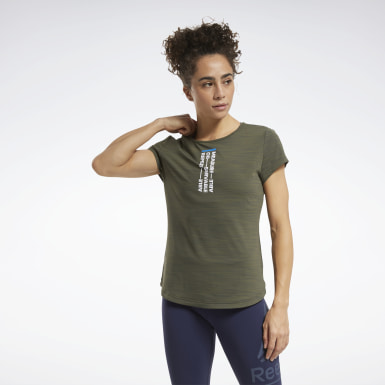 RC ACTIVCHILL Tee Vert Femmes Cross Training