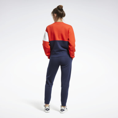 Tuta Linear Logo Crewneck Rosso Donna Fitness & Training