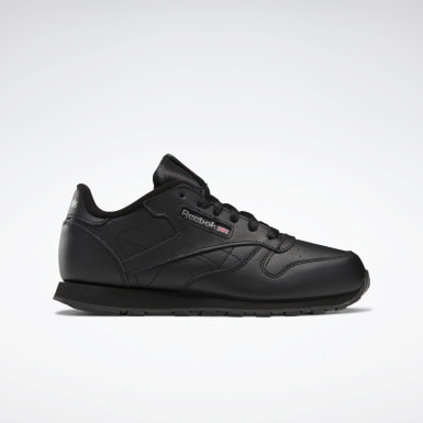 Kids Classics Black Classic Leather Shoes - Grade School