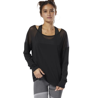 Polerón D Mesh Long Sleeve Top