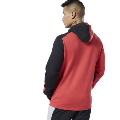 Men Fitness & Training Red One Series Training Colorblocked Hoodie