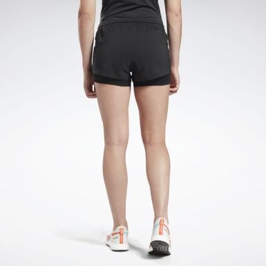 Women Terrengløping Black Running Essentials Two-in-One Shorts
