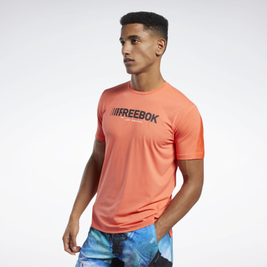 Men Fitness & Training Orange ACTIVCHILL Move Tee