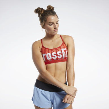 Women Training Reebok CrossFit® Medium-Impact Skinny Bra
