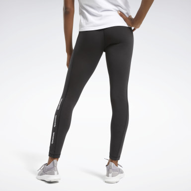 Legginsy Training Essentials Linear Logo Czerń
