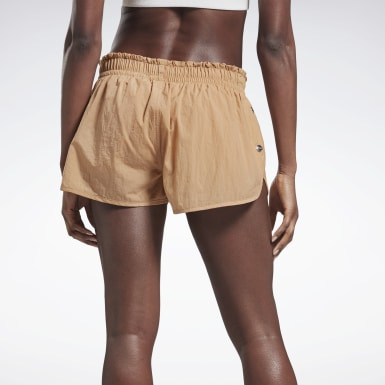 Women Training Beige VB Running Shorts