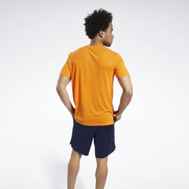 Men HIIT Orange Workout Ready Supremium Graphic Tee