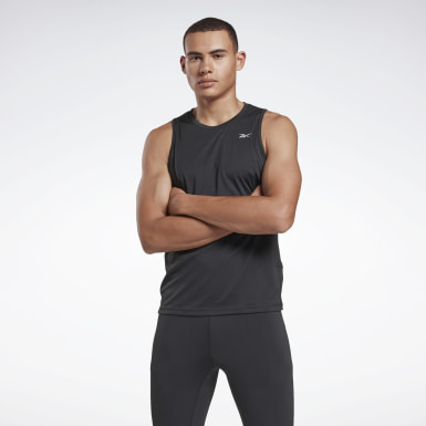 Men Trail Running Black Running Essentials Singlet