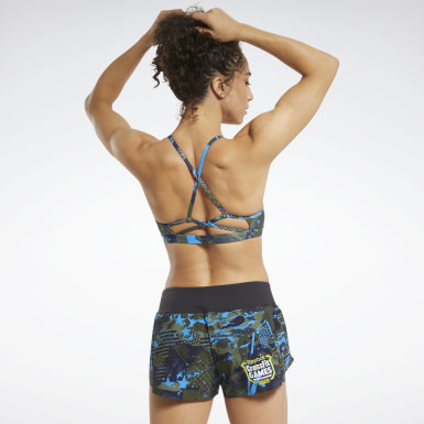 Women CrossFit Green Reebok CrossFit® Low-Impact Micro Bra