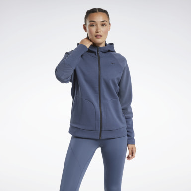 синий Худи Quik Cotton Full-Zip
