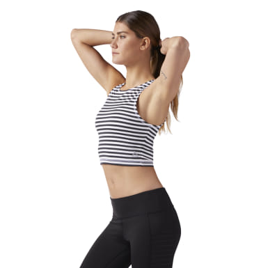 Haut crop Striped