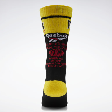 Classics Black Classics We Sell Gold Crew Socks