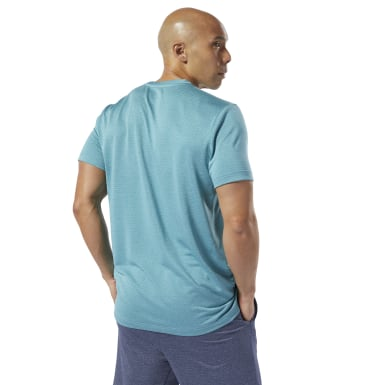 Men Training Turquoise WOR Mélange Tech Top
