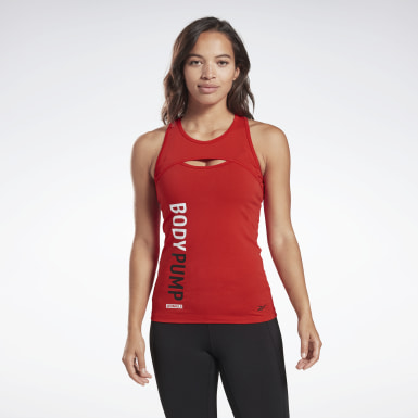 Women Studio Red LES MILLS® BODYPUMP® Tank Top