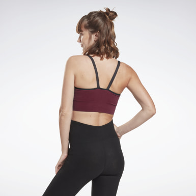 Dames Yoga Bordeaux Medium-Impact Voedingsbeha