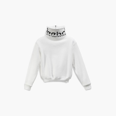 Women Training White Victoria Beckham Cropped Branded Cowl