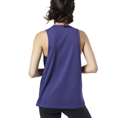 Musculosa Graphic Series Burn Limits Muscle Violeta Mujer Fitness & Training
