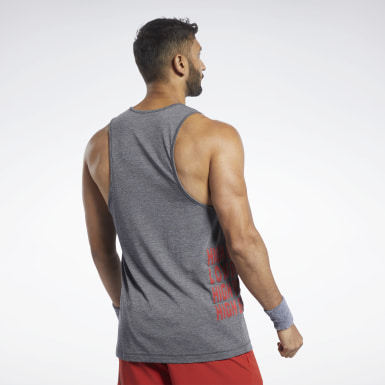 Men Cross Training Black Reebok CrossFit® ACTIVCHILL+COTTON Tank Top