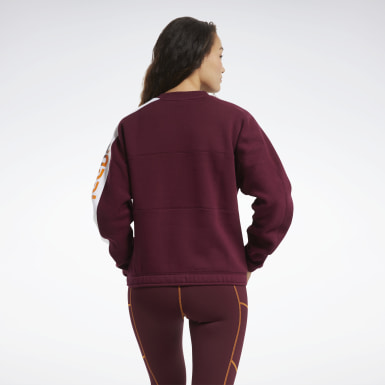 Frauen Fitness & Training MYT Crew Sweatshirt Weinrot
