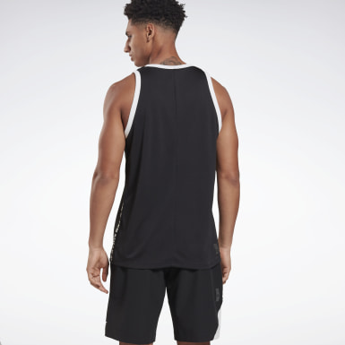 Heren Basketbal Zwart LES MILLS® Basketbal Tank top