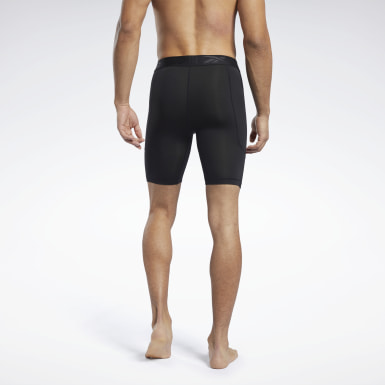 Men Cycling Black Workout Ready Compression Briefs