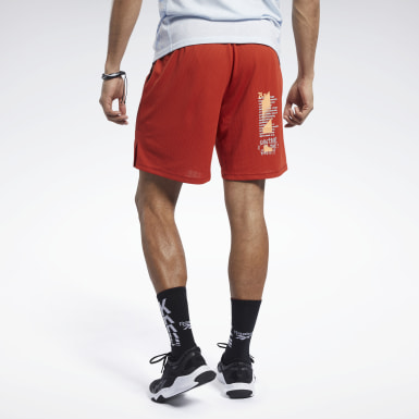 Men Cross Training Reebok CrossFit Knit Woven Hybrid Shorts