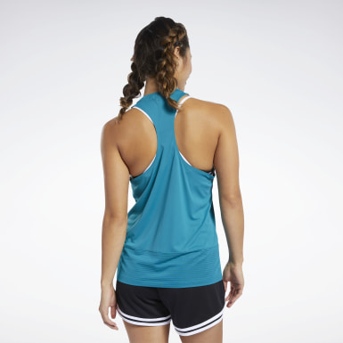 Women Training Workout Ready Mesh Panel Tank Top