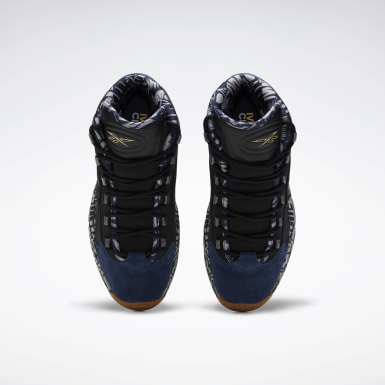 Classics Black Question Mid Men's Basketball Shoes